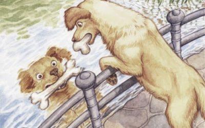 Il cane e i due ossi